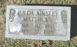 Hilda Ainsley Matthews (1910-1978) - Find A Grave Memorial