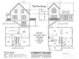 Post  amp  Beam Home Plans in VT   Timber Framing Floor Plans   VT FramesFerrisburg Saltbox