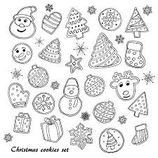 christmas cookie clip art black and white. Wonderful White Big Set Of Christmas Cookies Sketch Stock Vector  66958998 To Cookie Clip Art Black And White O