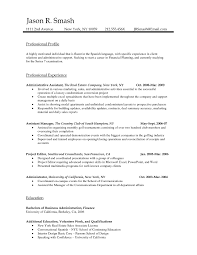 Resume Template Standard Examples Sample Curriculum Vitae Within