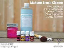 diy makeup brush cleaner with essential oils