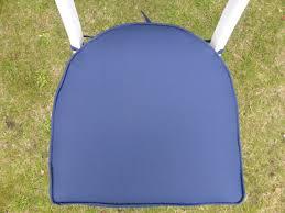 garden furniture cushions navy round back chair seat pad cushion 42x41x4