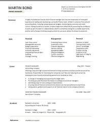 Management Cv Template Finance Manager Cv Template Financial Resume Managerial Job