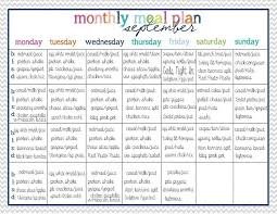 30 Day Healthy Eating Plan 30 Day Meal Plan Monthly Meal Planning Clean Eating Menu