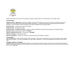 information sheet from registration 3 3 19