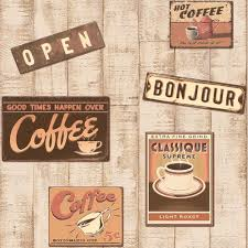 vintage coffee shop wallpaper. Rasch Retro Coffee Shop Pattern Wood Effect Embossed Vinyl Wallpaper 854404 And Vintage Want