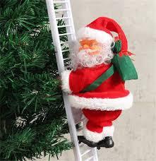 Goosuny Electric Climbing Ladder Santa with Lights and Music Christmas  Electric Climbing Santa Claus, Xmas Figurine Ornament, Santa Climbing Ladder  Rope Ladder Christmas Decoration: Amazon.co.uk: Kitchen & Home