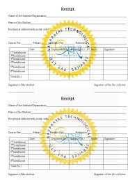 fee receipt format download tuition fee receipt template in word format