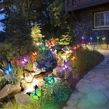 solar garden lights outdoor 3 pack