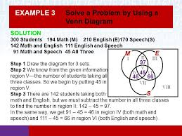Venn Diagram Examples 3 Sets Section 2 4 Using Sets To Solve Problems Math In Our World Ppt