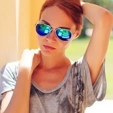 colored mirrored aviator sunglasses