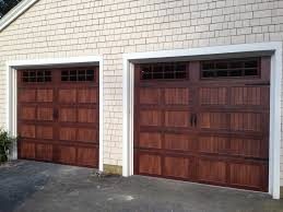 Faux Garage Door Hardware Clopay Walnut Finish Gallery Collection Garage Doors With Arched