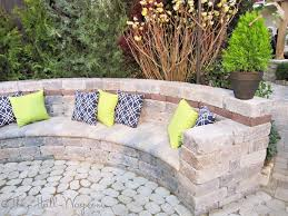 Seating Wall Blocks Paver Bench Bench Made Out Of Pavers And Retaining Wall Posies