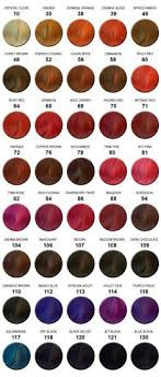 Ion Hair Colors Chart Ion Red Color Chart Ion Hair Colour