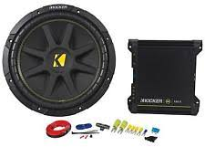 subwoofer kit kicker comp 12 10c124 subwoofer package w 2 channel amplifier amp wire kit