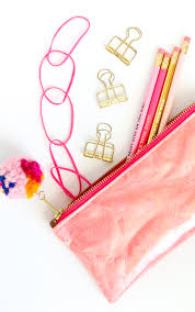 learn to sew your own holographic zippered pencil case in any color you choose diy