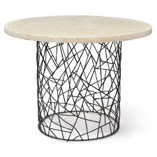 palecek bleeker industrial pacific mactan stone round dining bistro table kathy kuo home