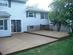 how to build a ground level deck awesome backyard floating deck