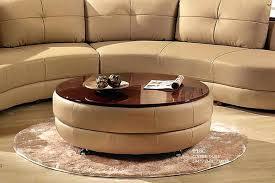 fashionable ottoman with glass top glass top round ottoman coffee table ottoman glass top coffee table
