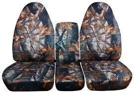 dodge ram 40 20 40 gray real tree camo seat covers