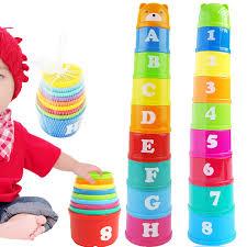 Ngăn xếp tháp hình chữ bé đồ chơi giáo dục 6 tháng + đồ chơi thông minh sớm  cho trẻ em bé trai bé gái đồ chơi dễ thương xếp chồng quà