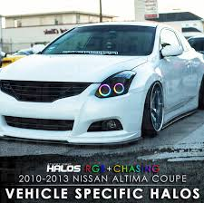 nissan altima coupe 2013. 20102013 nissan altima coupe rgb chasing starry night halo kit 4 halos 2013