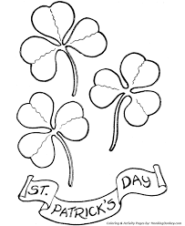Small Picture St Patricks Day Coloring Pages Shamrocks and Happy StPatricks