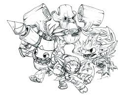Skylander Pictures To Color Coloring Pages To Print Coloring Pages