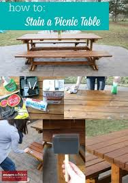 how to stain a picnic table picnic
