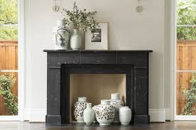 traditional marble mantle and marble fire surround