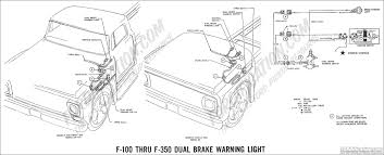 ford truck technical drawings and schematics section h wiring GMC Brake Light Wiring Diagram 1969 f 100 thru f 350 dual brake warning light