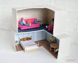 doll furniture recycled materials. DIY Cardboard Dollshouse Doll Furniture Recycled Materials