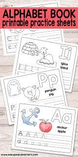 free printable alphabet. Delighful Printable Free Printable Alphabet Book For Preschool And Kindergarten On R