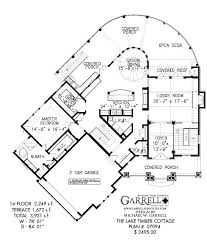 lake house floor plans wide lot timber cottage plan walkout basement