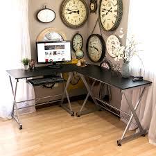 Best Choice Products Wood L-Shape Corner Computer Desk PC Laptop Table  Workstation Home Office (Black) - Walmart.com