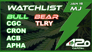 Jan 15 Mj Stock Chart Analysis Cgc Weed Tlry Acb Apha Cron Aurora Long For 1st Time Ever