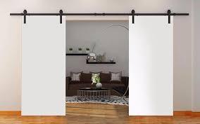 modern interior barn doors. Delighful Interior SARTODOORS Planum 0010 Modern Interior Solid Wood Flush Closet Double Barn  Doors White Silk With Track On T