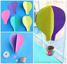 Spinning 3D hot air balloon