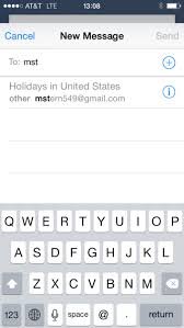 Gmail iPhone Mail bug may change your name to Holidays in United