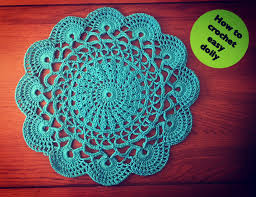 Crochet Doily Patterns Impressive How To Crochet Easy Doily YouTube