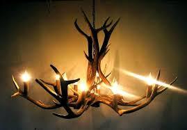 comfortable antler chandelier for