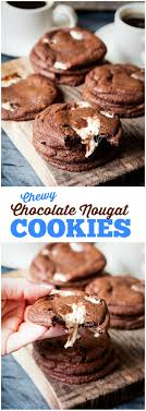 Chewy Chocolate Cookies Chewy Chocolate Nougat Cookies Simply Stacie