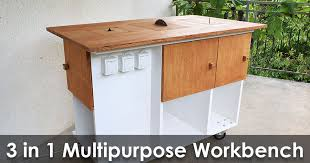 table jigsaw. homemade 3 in 1 multipurpose workbench: table saw, router and inverted jigsaw (free plans)
