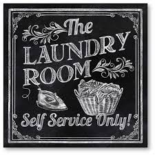 laundry room canvas printed wall art
