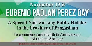 special public holiday in pangasinan