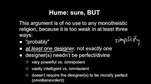 Design Argument 22b Paleys Design Argument David Humes Analogical Design Argument Objections