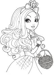 Small Picture Ever After High Coloring Pages
