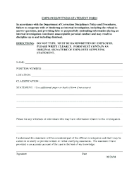 Witness Statement Template For Work Form Fantastic Picture