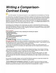 comparison and contrast essays examples what was in the  high school compare contrast essay examples photo how to write an comparing two poems photond example