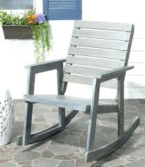 modern outdoor rocking chair porch chairs black cushions pertaining to mid century r